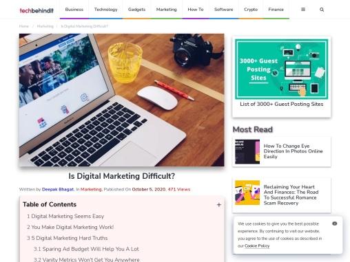 Is Digital Marketing Difficult?