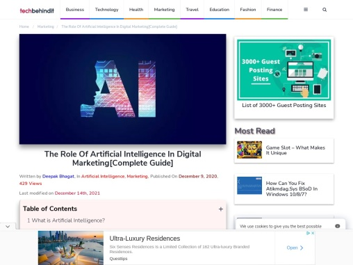 The Role Of Artificial Intelligence In Digital Marketing[Complete Guide]