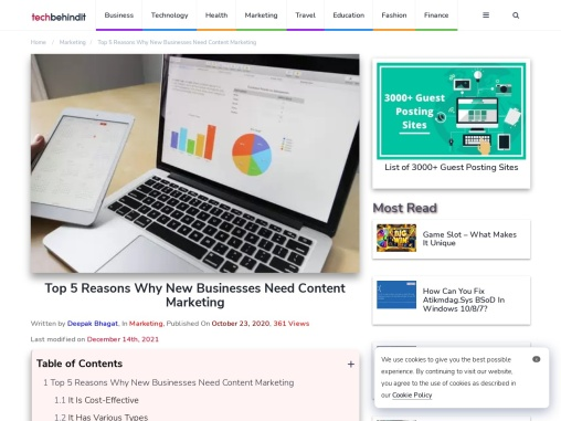 Top 5 Reasons Why New Businesses Need Content Marketing