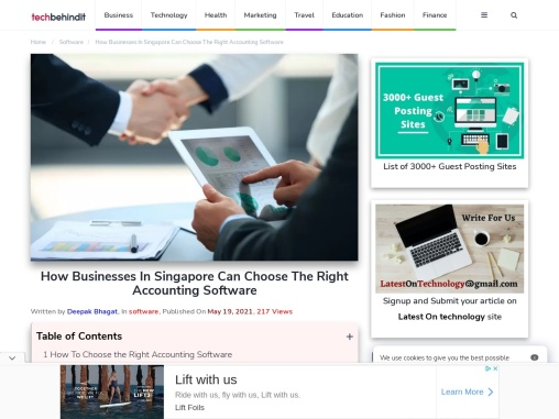 How Businesses In Singapore Can Choose The Right Accounting Software