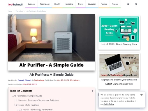 Air Purifiers: A Simple Guide – Tech Behind It
