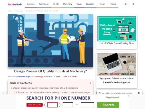 Design Process Of Quality Industrial Machinery?