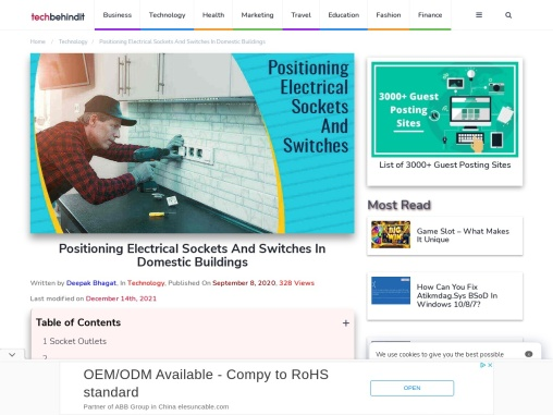 Positioning Electrical Sockets And Switches In Domestic Buildings