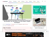 Top Benefits You Get When You Hire Expert Shopify Developers