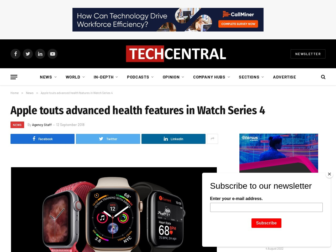 Apple touts advanced health features in Watch Series 4
