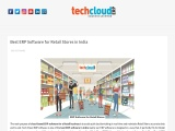 Best ERP Software for Retail Stores in India | Cloud ERP for Retail Stores