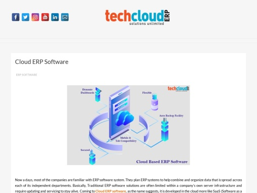 Cloud Based ERP Software in India | ERP Software Solutions