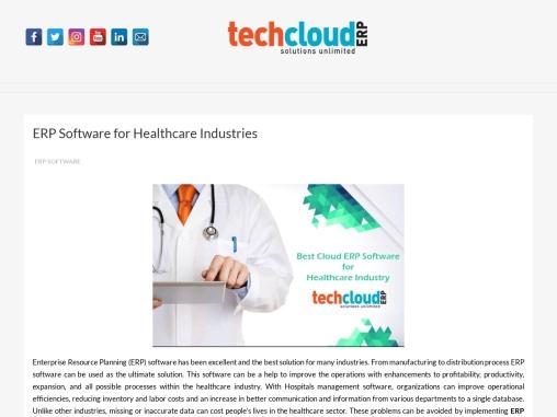 Best ERP Companies in Hyderabad | ERP for Healthcare Industries