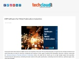 ERP Software for Metal Fabrication Industries in Hyderabad , India