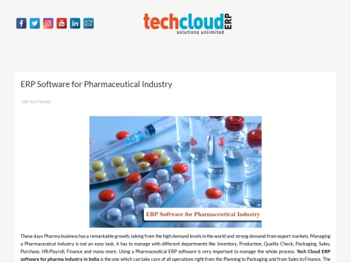 ERP Software for Pharmaceutical Industry in India | Pharma ERP Software