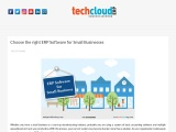 ERP Software for Small Business in India | Tech Cloud ERP