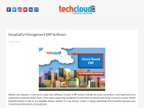 ERP Software for Hospitality Management in India