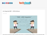 Integrated ERP and CRM Software in India | Tech Cloud ERP Integration