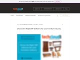 Choose the Right ERP Software for your Furniture Industry