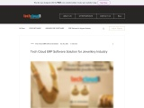 Tech Cloud ERP Software Solution for Jewellery Industry