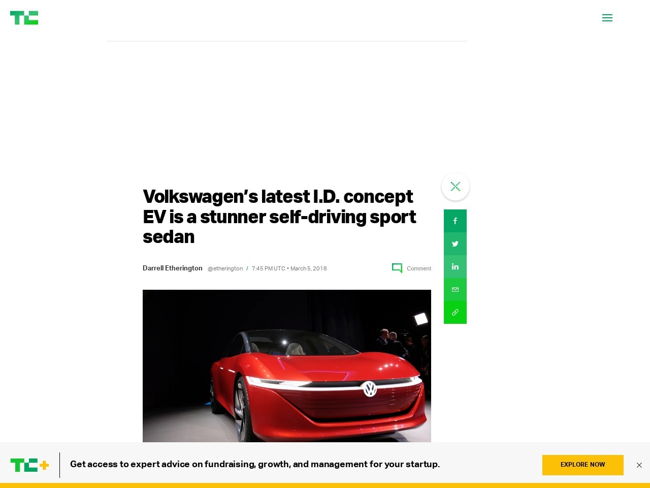 Volkswagen's latest I.D. concept EV is a