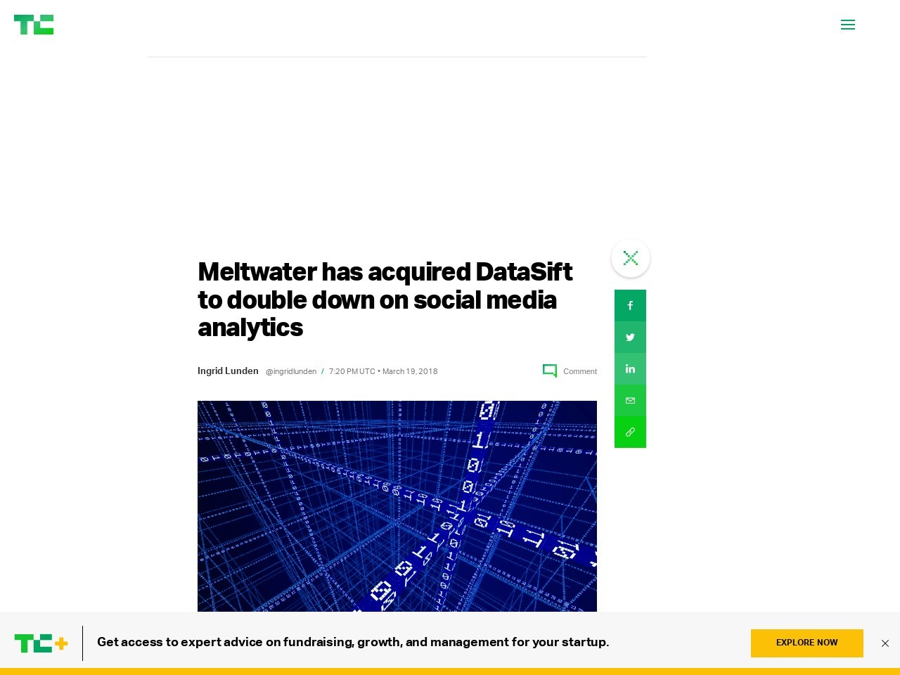 Meltwater has acquired DataSift to double down on social media analytics