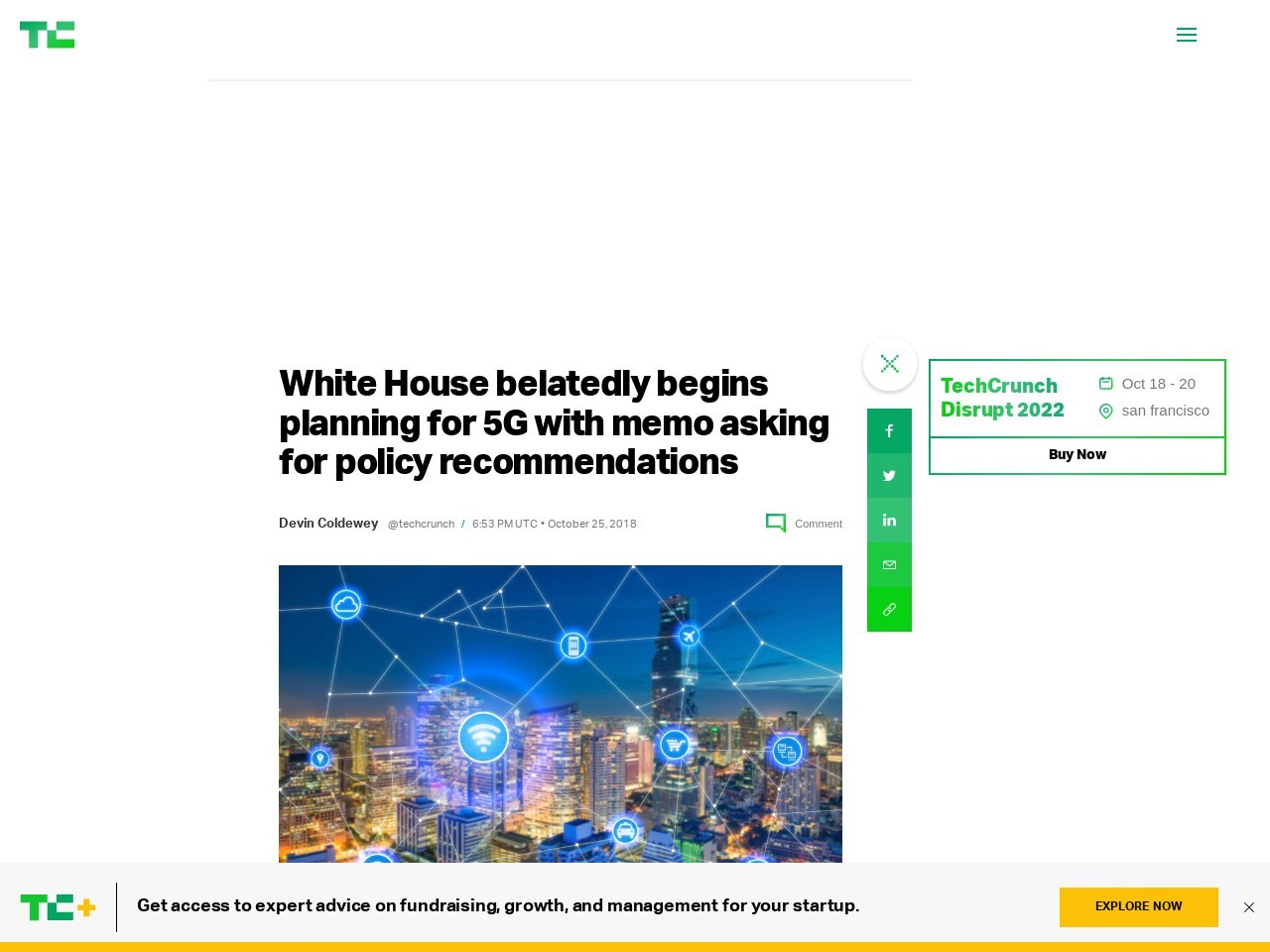White House belatedly begins planning for 5G with memo asking for policy recommendations
