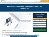 Improve Your Marketing Strategy With Best CRM Techniques