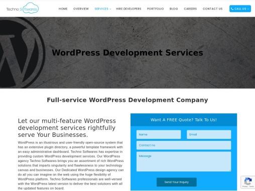 WordPress Design Agency – Techno Softwares