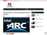 Intel Introduce A New Gaming GPU Called Intel Arc