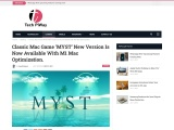 Classic Mac Game 'MYST' New Version Is Now Available With M1 Mac Optimization.