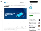 Technologies That'll Occupy Our Lives in 2021 and After!