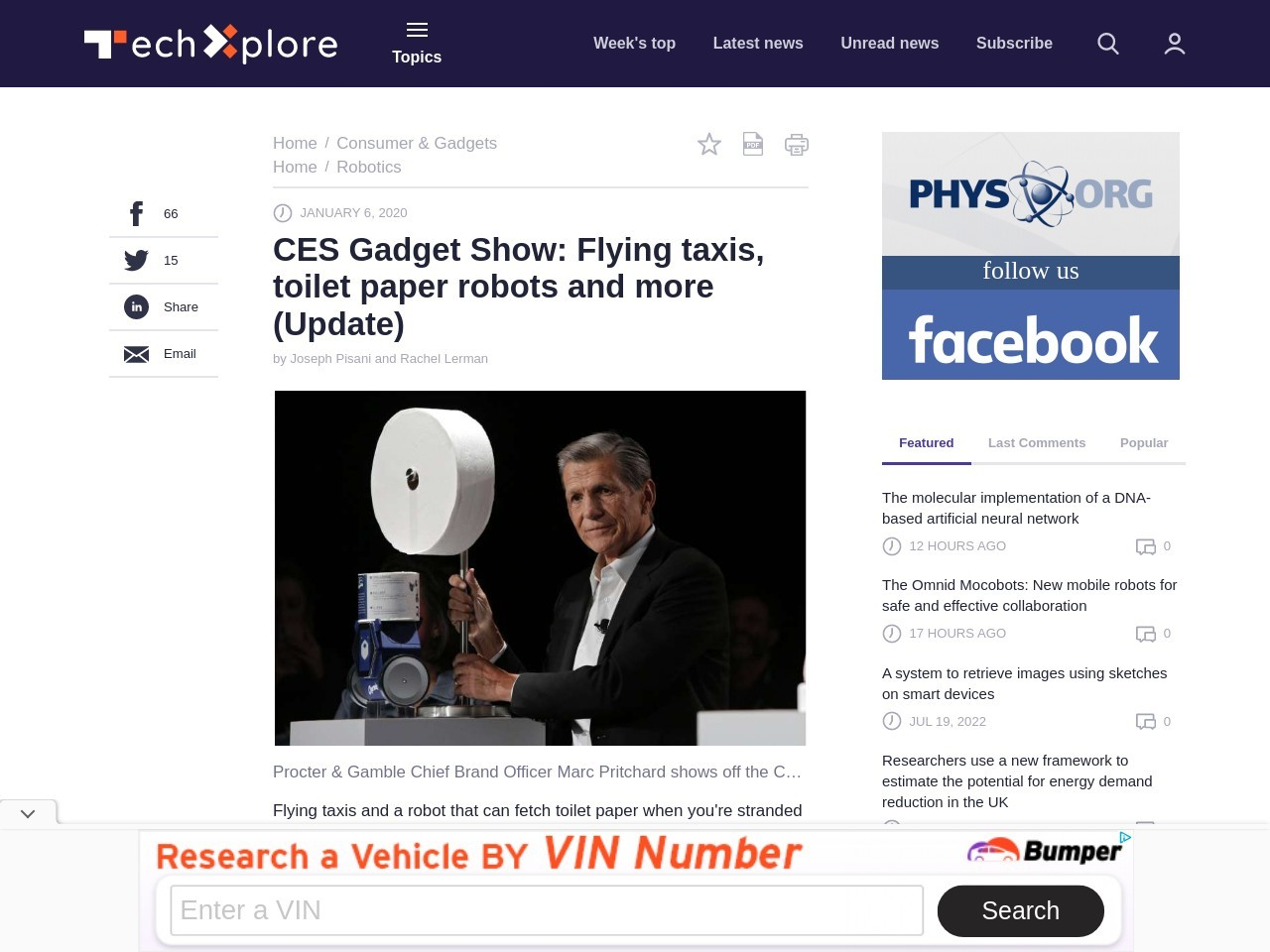 CES Gadget Show: Toilet paper robot and tracking the elderly