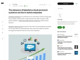 The relevance of Salesforce cloud services in customer service in varied companies