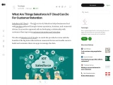 What Are Things Salesforce IoT Cloud Can Do For Customer Retention