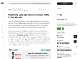 Does using local seo services increase traffic to your website