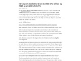 5G Chipset Market to Grow to USD 67.2 billion by 2027, at a CAGR of 26.7%