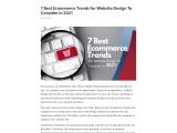 7 Best Ecommerce Trends for Website Design To Consider in 2021