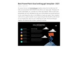 Best PowerPoint Goal setting ppt template- 2021