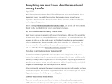 Everything one must know about international money transfer