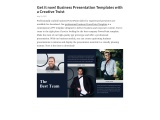 Get it now! Business Presentation Templates with a Creative Twist