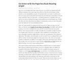 Go Green with the Paperless Book Reading Jargon
