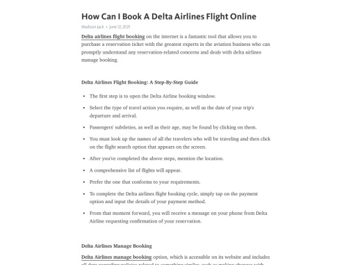 How Can I Book A Delta Airlines Flight Online