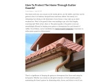 How To Protect The Home Through Gutter Guards?