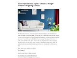 Most Popular Sofa Styles For Your Home & Office | Interior Design Agency | Decor La Rouge
