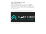 Need of Marketing Research | Blackridge Research & Consulting