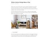 Winter Interior Design ideas or Tips