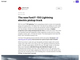 The new Ford F-150 Lightning electric pickup from $ 39,000