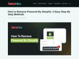How to Remove Powered By Shopify: 2 Easy Step By Step Methods