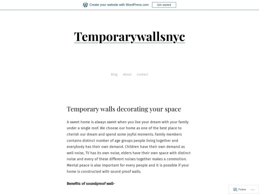 Temporary walls decorating your space
