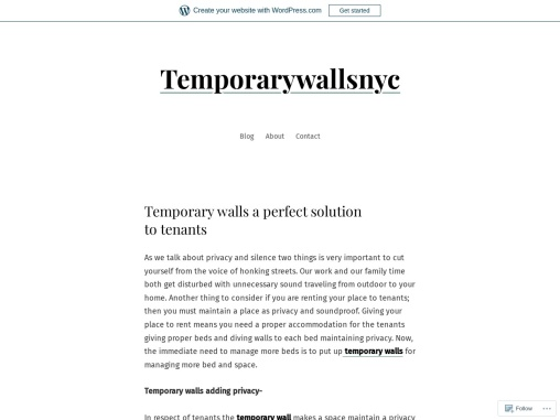 Temporary walls a perfect solution to tenants