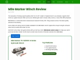 Mile Marker Winch Review to Rescue You From Stuck