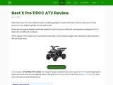 Best X Pro 110CC ATV Review and buing guide