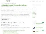 11 Best Lightweight Women's Tennis Shoes