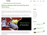 Difference between hard court and clay court